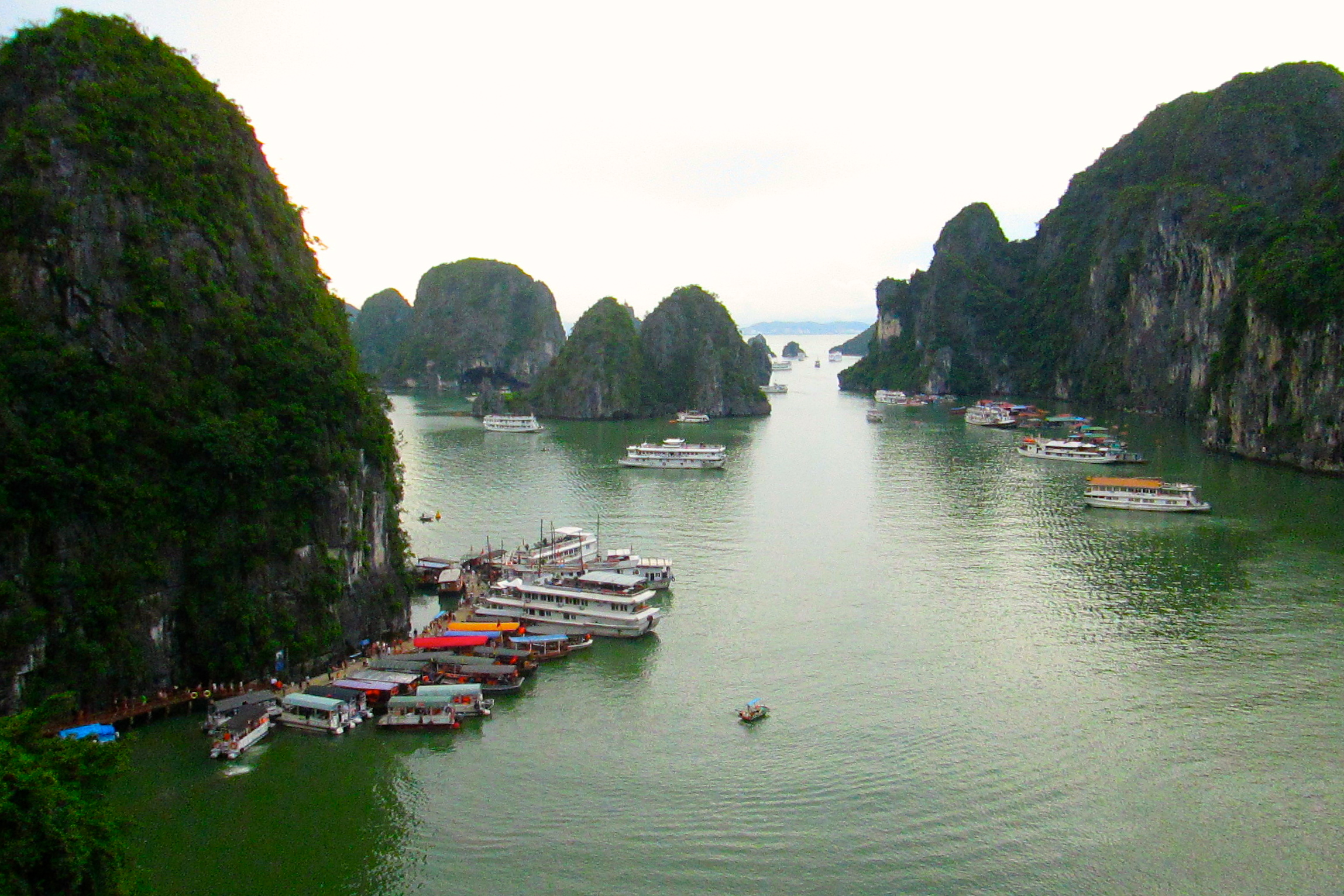 Beneath the calm waters of Halong Bay sleeps a dormant dragon © Nisha D'Souza