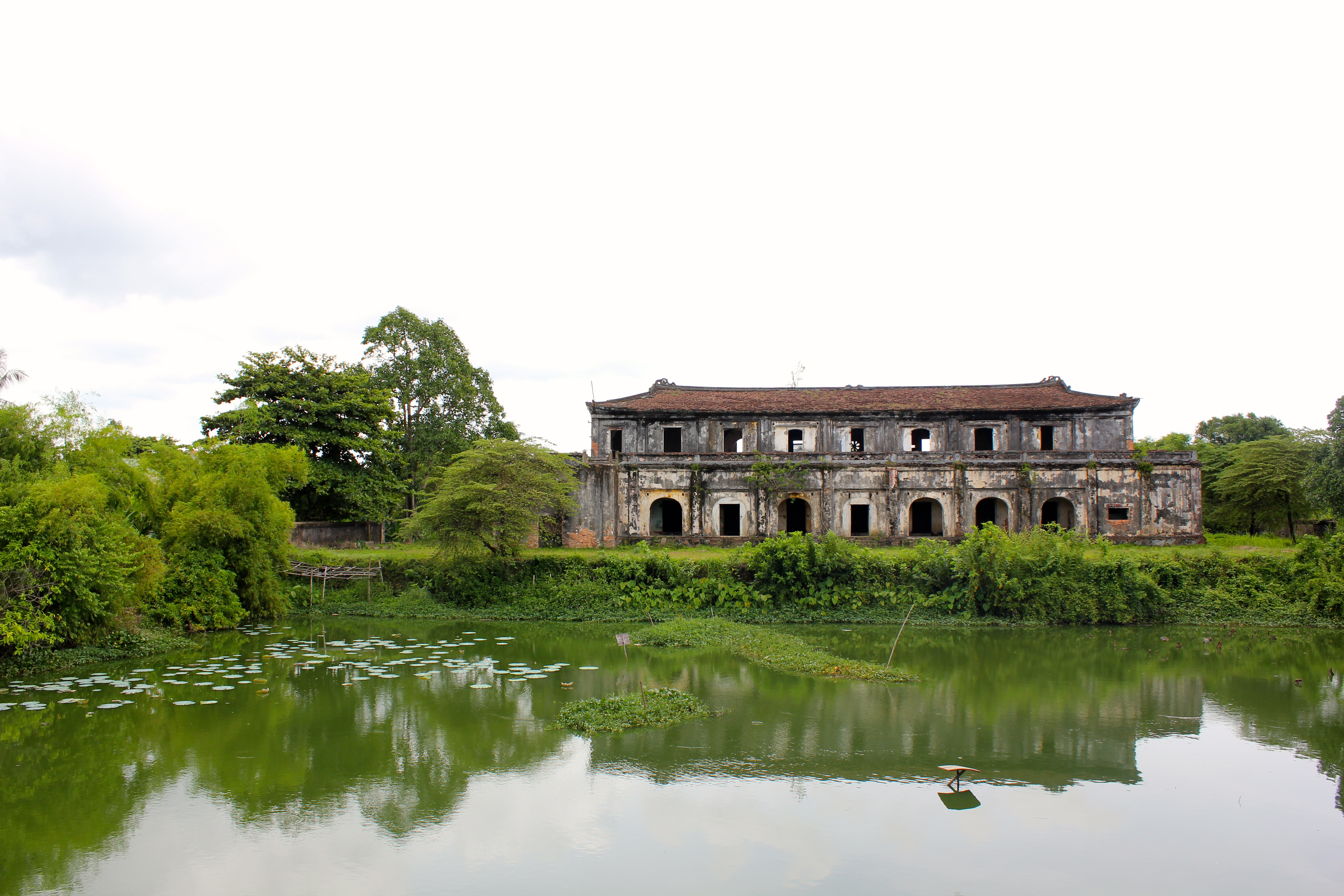 The former imperial capital of Hue came under heavy bombardment by the Americans during the Vietnam war; abandoned ruins stand as a reminder of the time © Nisha D'Souza