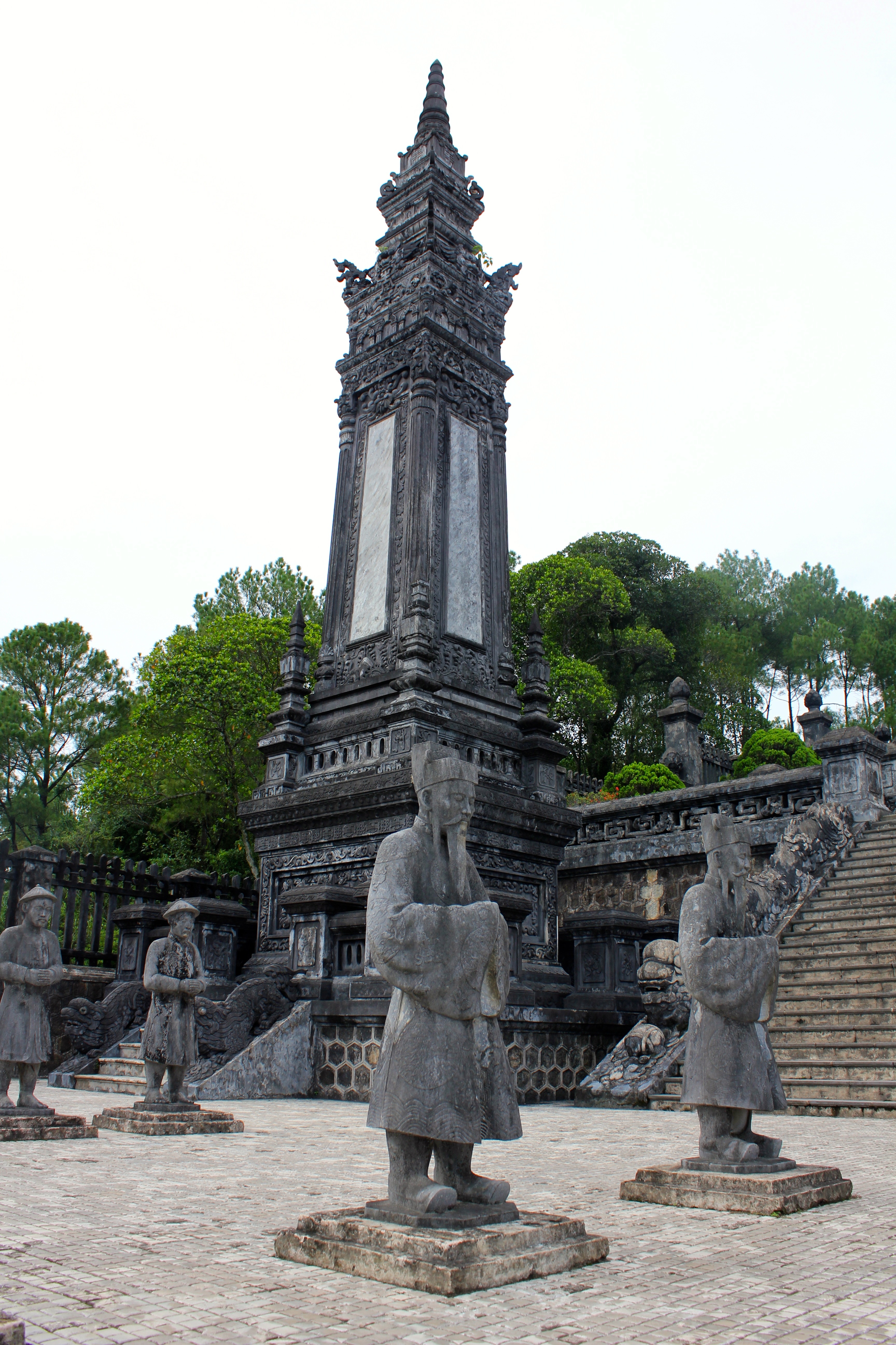 The hauntingly beautiful tomb of Emperor Khai Dinh amongst the hills of the former imperial capital city of Hue © Nisha D'Souza