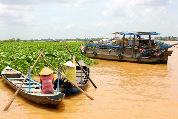 Lazy afternoons floating along the Mekong river, Vietnam