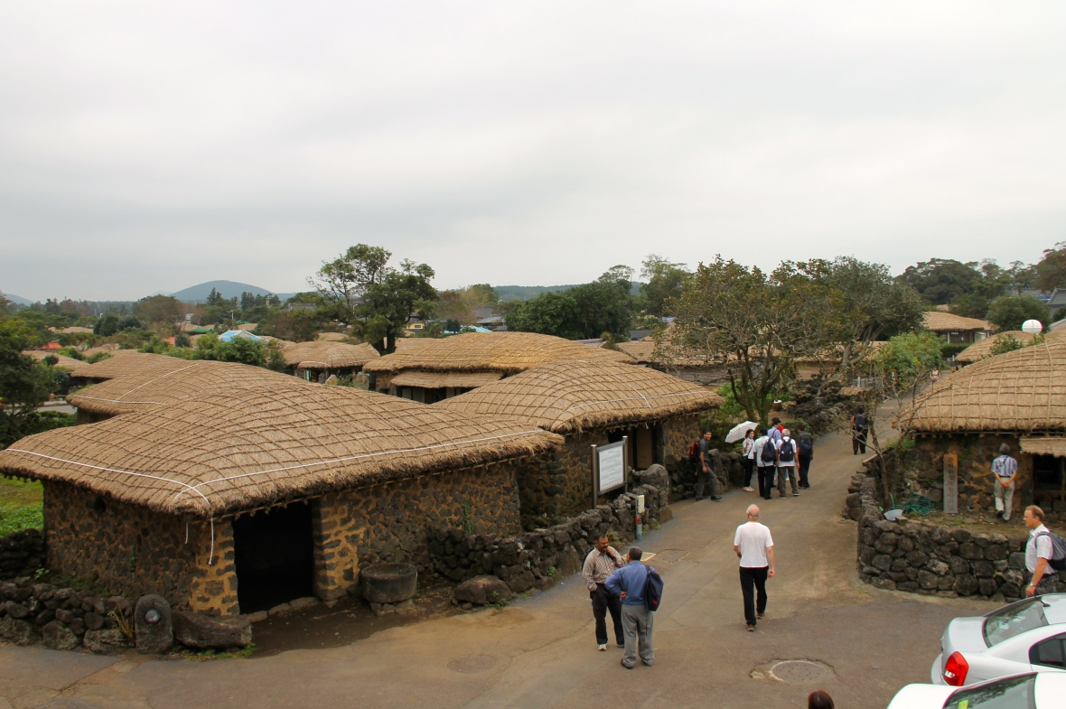 Seongeup folk village, at the foot of Mt. Halla, in an important part of the islands heritage. © Nisha D'Souza