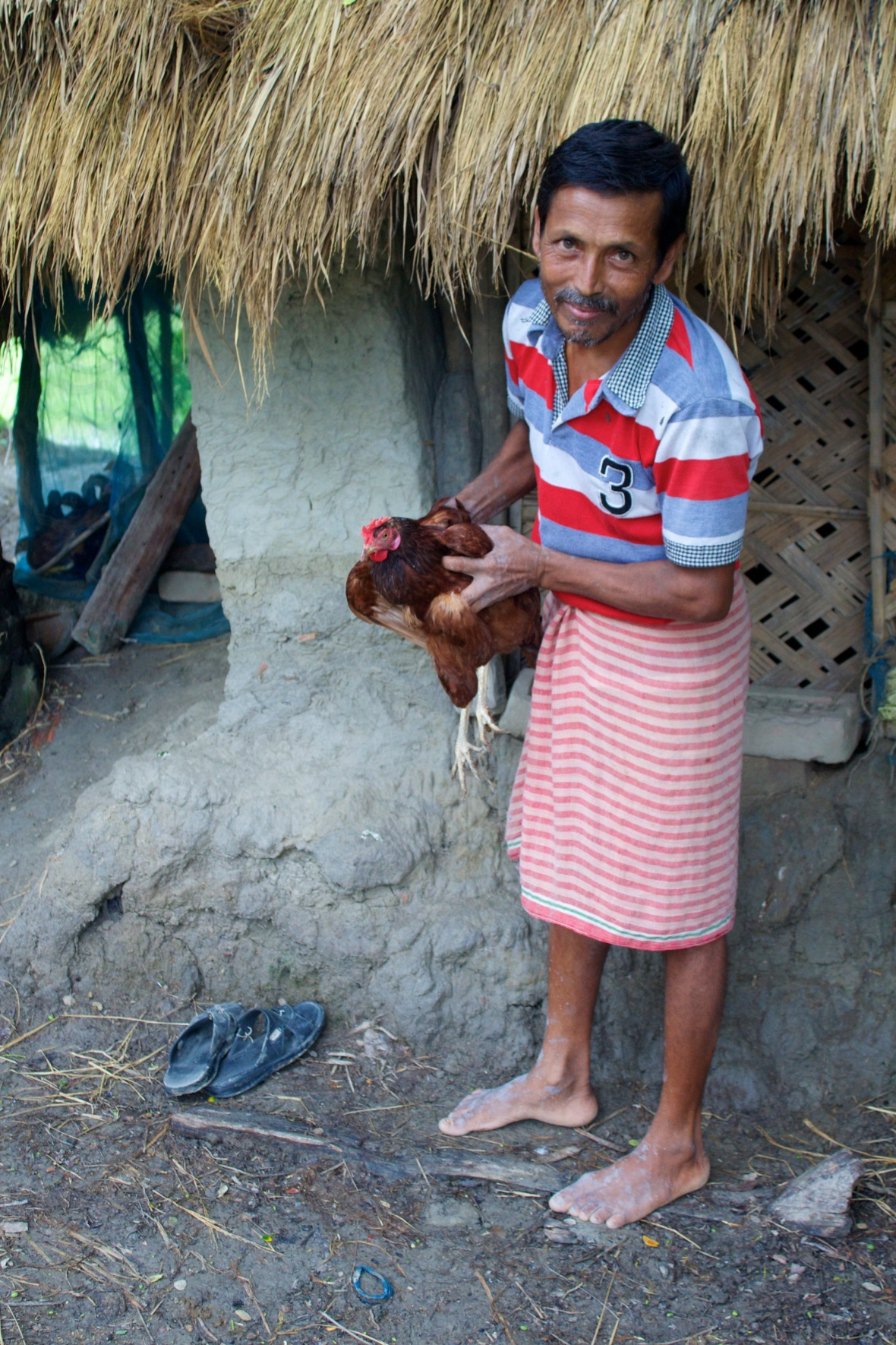 Chicken eggs are sold to supplement incomes in the Sundarbans © Nisha D'Souza