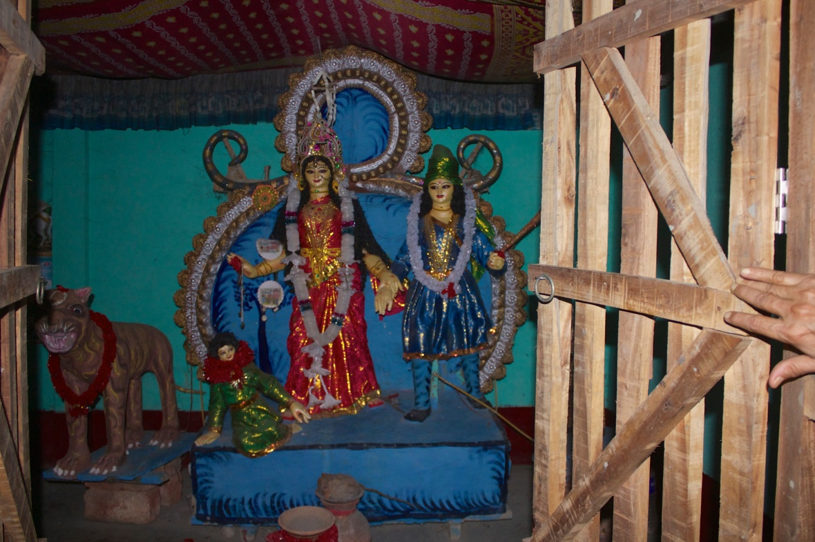 Shrines and figurines of Banbibi are found everywhere within and outside of the forests © Nisha D'Souza