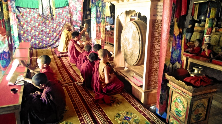 Young boys train to be monks © Nisha D'Souza