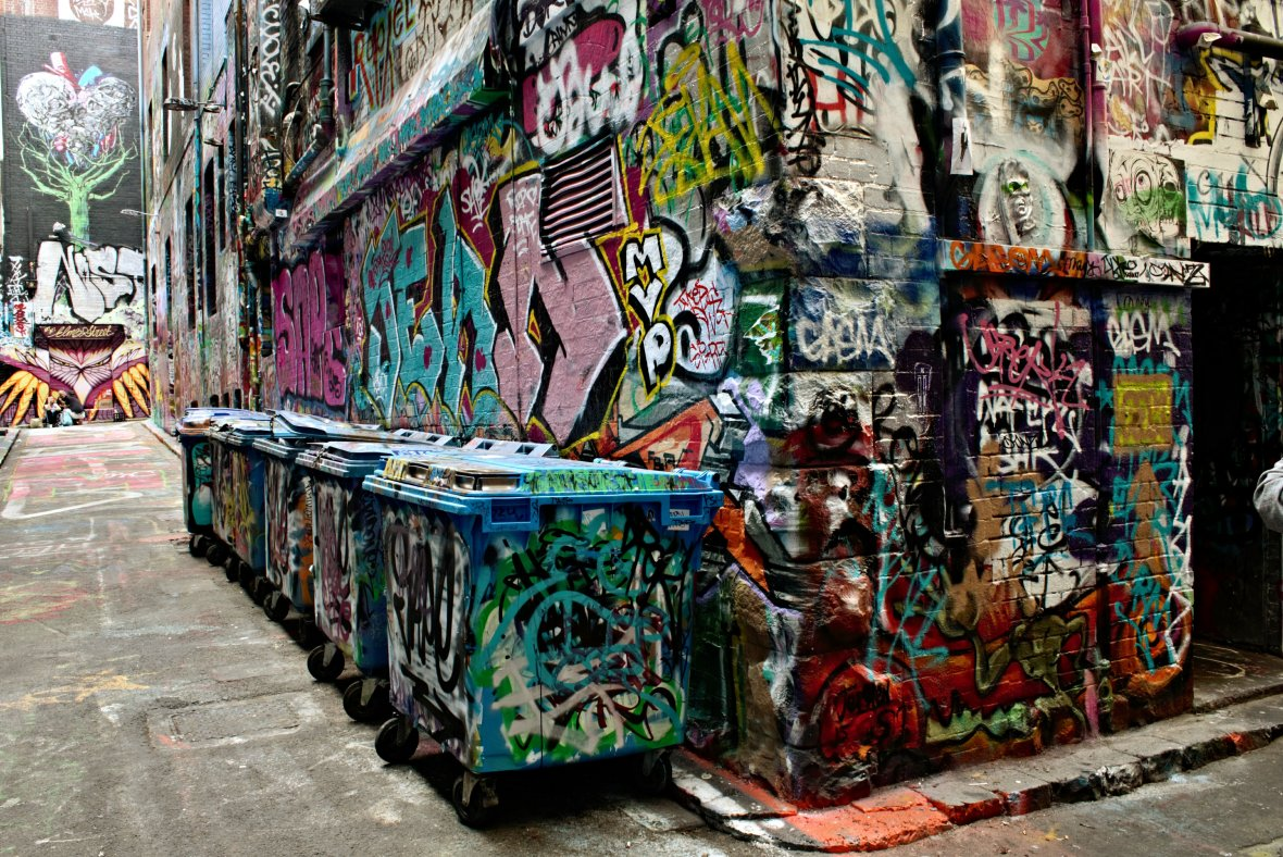 Hosier and Rutledge Lane, opposite Federation Square, is a much celebrated and frequented landmark, and one of my most favorite places © Nisha D'Souza